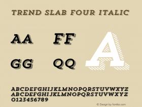 Trend Slab Four Italic 1.000图片样张