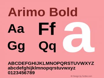 Arimo Bold Version 1.10 Font Sample
