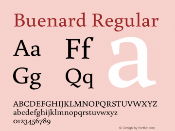 Buenard Regular 001.000 Font Sample