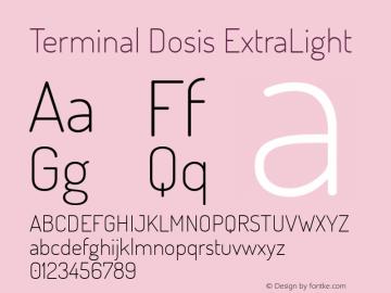 Terminal Dosis ExtraLight Version 1.006 Font Sample