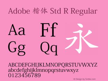 Adobe 楷体 Std R Regular Version 5.017;PS 5.004;hotconv 1.0.67;makeotf.lib2.5.33168图片样张