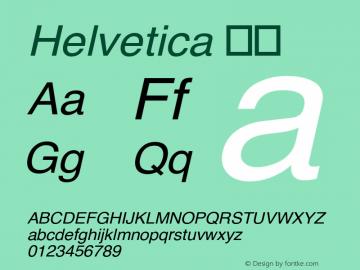 Helvetica 斜体 8.0d3e1 Font Sample