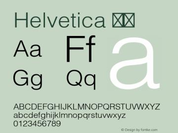 Helvetica 细体 8.0d3e1 Font Sample