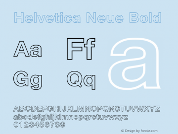 Helvetica Neue Bold Version 001.000 Font Sample