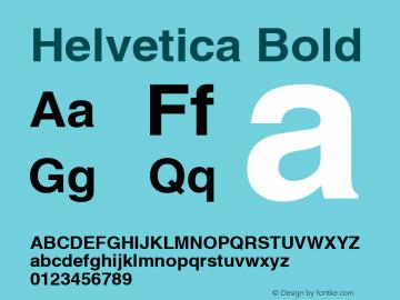 Helvetica Bold Macromedia Fontographer 4.1 13/03/99 Font Sample
