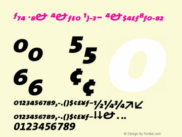 The Mix Extra Bold- ExpertItalic Version 1.0 Font Sample