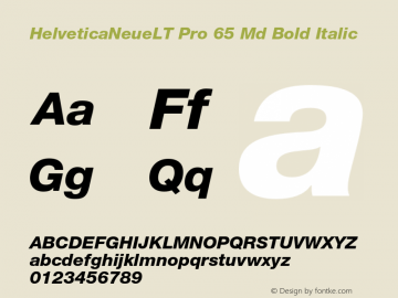 HelveticaNeueLT Pro 65 Md Bold Italic Version 1.000;PS 001.000;Core 1.0.38 Font Sample