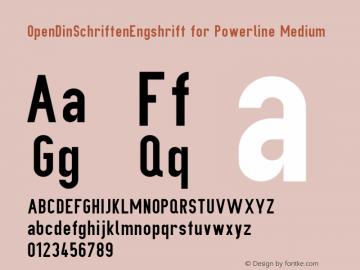 OpenDinSchriftenEngshrift for Powerline Medium Version 0906181649 Font Sample