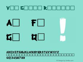 Van Gough Regular Unknown Font Sample