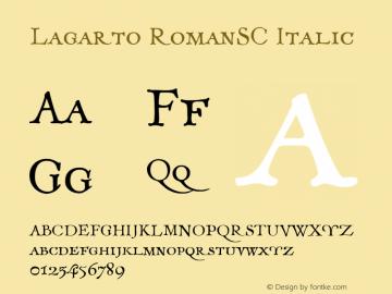 Lagarto RomanSC Italic XPDF Font Sample