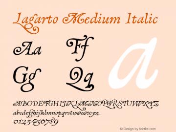 Lagarto Medium Italic XPDF Font Sample