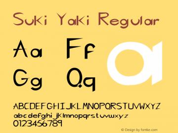 Suki Yaki Regular Unknown Font Sample