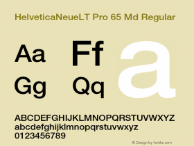 HelveticaNeueLT Pro 65 Md Regular Version 1.000;PS 001.000;hotconv 1.0.38 Font Sample