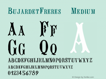 BujardetFreres Medium Version 001.000 Font Sample