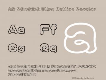 AR RGothic2 Ultra Outline Regular Version 2.10图片样张