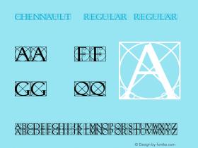 Chennault  Regular Regular Unknown Font Sample
