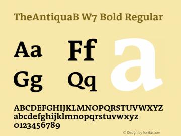 TheAntiquaB W7 Bold Regular Version 1.72 Font Sample