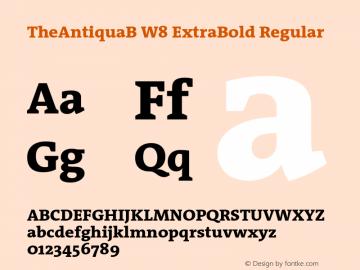TheAntiquaB W8 ExtraBold Regular Version 1.72 Font Sample
