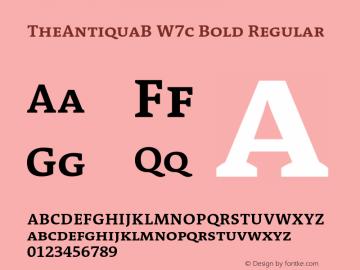 TheAntiquaB W7c Bold Regular Version 1.72 Font Sample