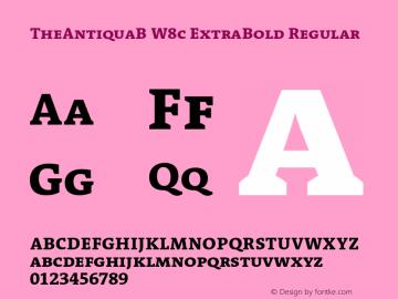 TheAntiquaB W8c ExtraBold Regular Version 1.72 Font Sample