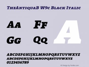 TheAntiquaB W9c Black Italic Version 1.72 Font Sample