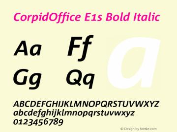 CorpidOffice E1s Bold Italic Version 2.392图片样张