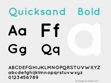 Quicksand Bold 1.002 Font Sample