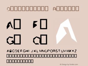 Distort0000 Regular Version 0.1图片样张