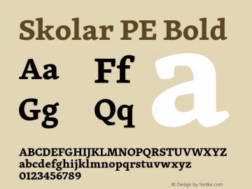Skolar PE Bold Version 3.000;PS 2.700;hotconv 1.0.70;makeotf.lib2.5.58329 Font Sample