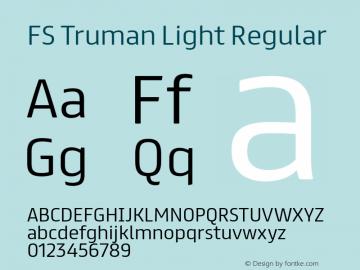 FS Truman Light Regular Version 1.000 Font Sample
