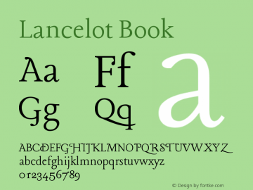 Lancelot Book Version 1.004 Font Sample