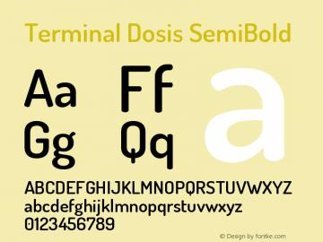 Terminal Dosis SemiBold Version 1.007 Font Sample