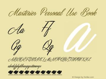 Masterics Personal Use Book Version 1.000 Font Sample