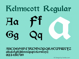 Kelmscott Regular Version Altsys Fontographer图片样张