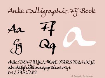 Anke Calligraphic FG Book Version 1.55 FG图片样张