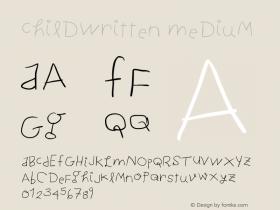 ChildWritten Medium Version 1.0 2004-06-26 Font Sample