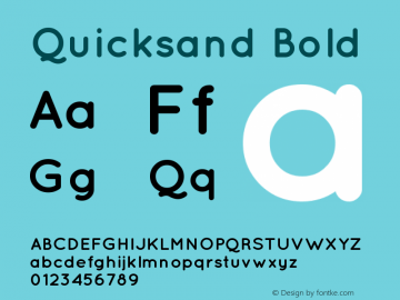 Quicksand Bold Version 001.001 Font Sample