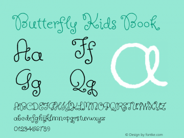 Butterfly Kids Book Version 1.000 Font Sample