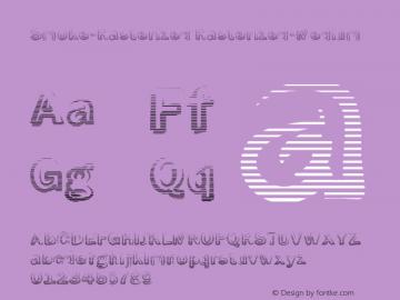 Smoke-Rasterized Rasterized-Medium Version 1.0 Font Sample