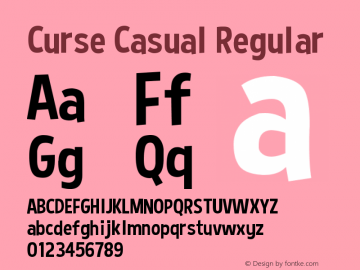 Curse Casual Font Curse Casual Regular Font Cursecasualregular Font Curse Casual Regular Version 1 6 1 13 13 Font Ttf Font Uncategorized Font Fontke Com