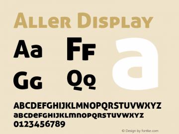 Aller Display Version 1.100 Font Sample