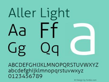 Aller Light Version 1.00 Font Sample