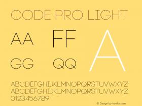 Code Pro Light Version 1.003 Font Sample