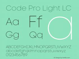 Code Pro Light LC Version 1.003 Font Sample