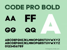 Code Pro Bold Version 1.003 Font Sample