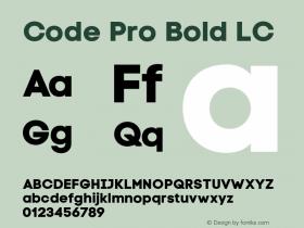 Code Pro Bold LC Version 1.003 Font Sample