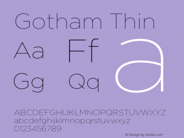 Gotham Thin Version 001.000图片样张