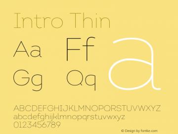 Intro Thin Version 1.000;PS 001.001;hotconv 1.0.56 Font Sample