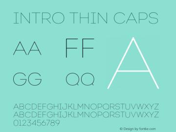 Intro Thin Caps Version 1.000;PS 001.001;hotconv 1.0.56 Font Sample