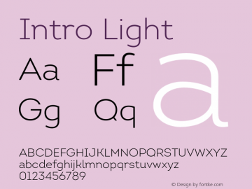 Intro Light Version 1.000;PS 001.001;hotconv 1.0.56 Font Sample